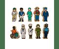 Woodis Personas Cuando grande seré ( Set 1 -  10 piezas )
