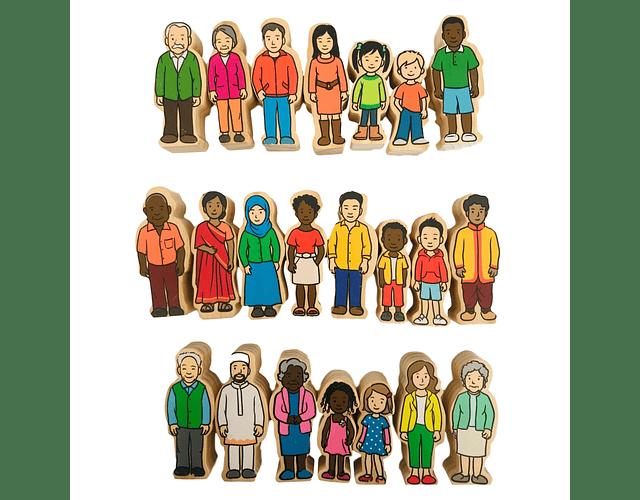 Woodis Personas Familias ( 22 piezas )