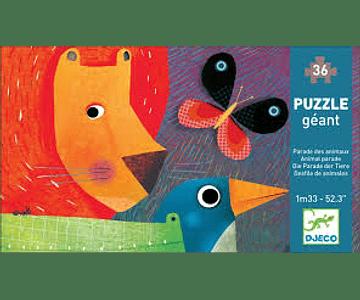 Puzzle Gigante Desfile de Animales 36 piezas