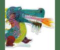 Puzzle Gigante León el Dragón 58 piezas
