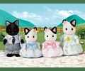 Familia Gato Tuxedo