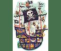 Puzzle gigante El barco pirata 36 piezas