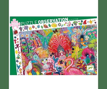 Puzzle Observación Carnaval de río 200 piezas