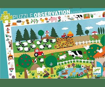 Puzzle Observación La granja 35 piezas