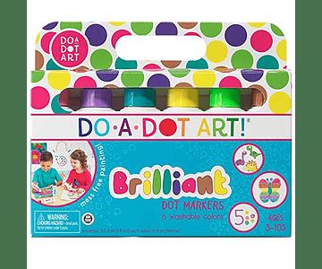 Marcadores brillantes Do a Dot (6 lapices)