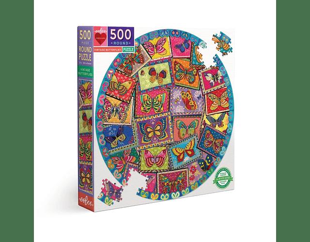 Puzzle Mariposas Vintage 500 piezas