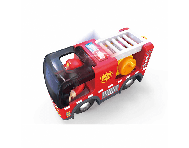 Camión de bombero con sirena