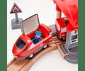 Pista de tren - Ferrocarril de ciudad ajetreada