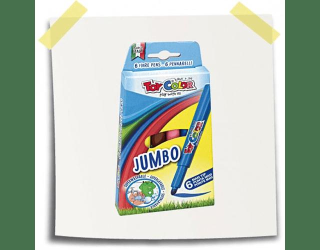 Plumones lavables jumbo (6 unidades)