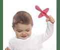 Oogaa Cucharas de silicona Avión rosado