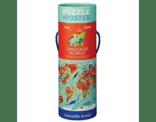 Puzzle Mundo de los dinosaurios 200 piezas