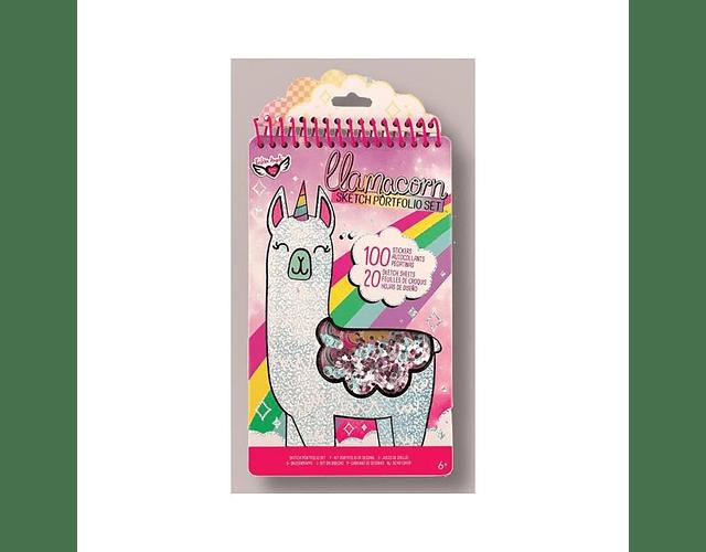 Libro para pintar y stickers Llama