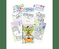 Libro numérico stickers Dinosaurio