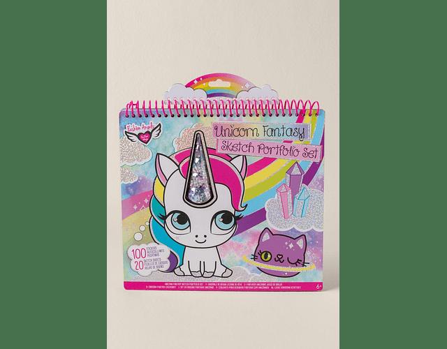 Libro grande para pintar y stickers Unicornio