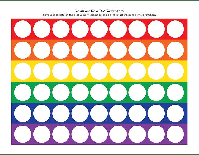 Marcador Rainbow Do a Dot (6 lapices)