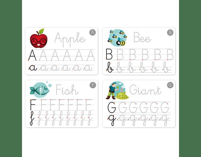 Caligrafía divertida alfabeto Eureka