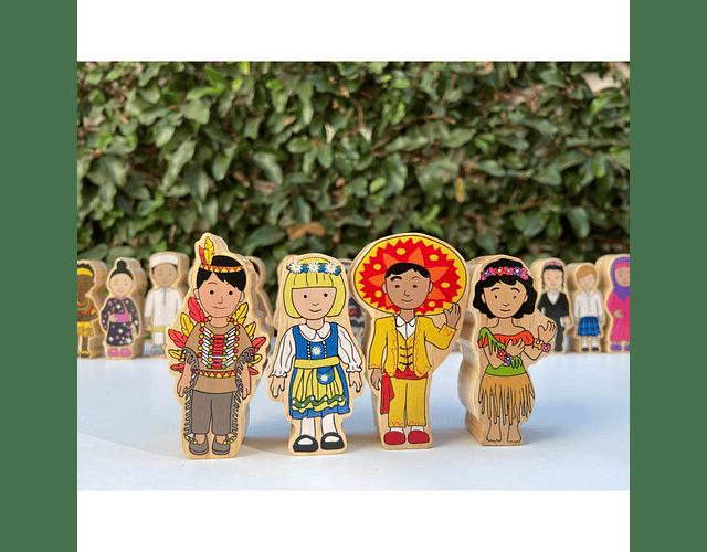 Woodis Niños del mundo ( 18 piezas )