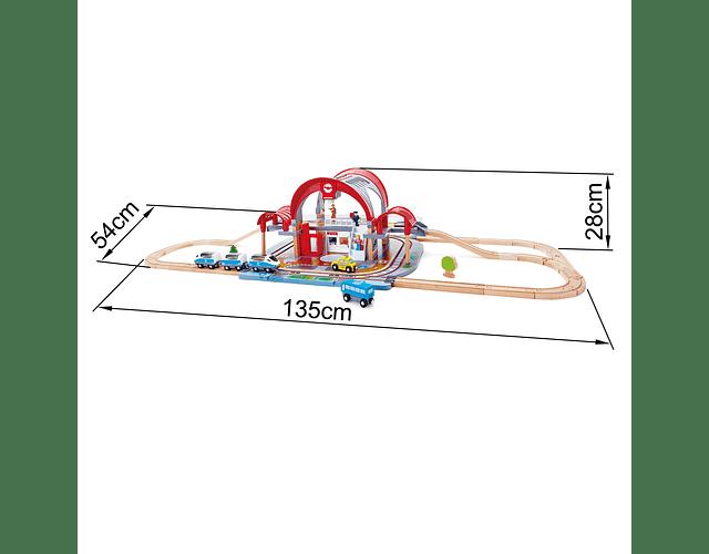 Pista de tren - Estación de la gran ciudad