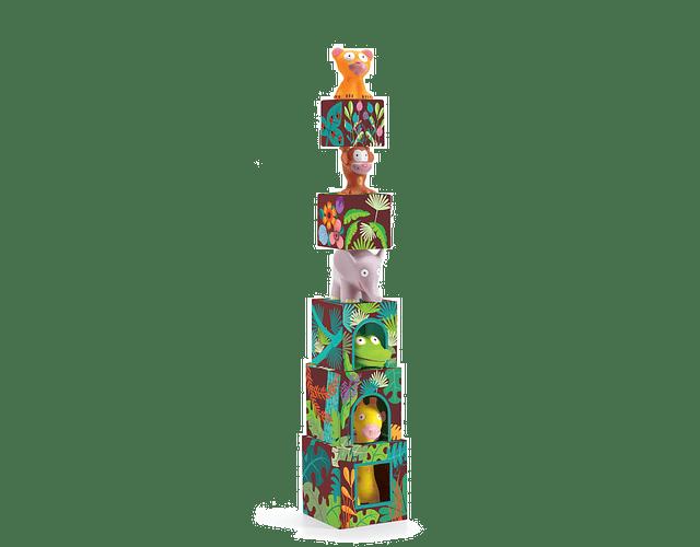Topanijungle - Cubos apilables jungla