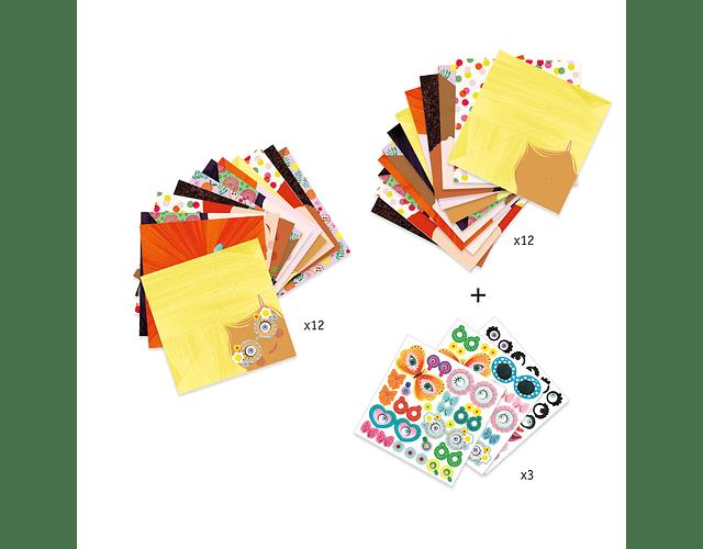 Set de Origami Caras Bonitas