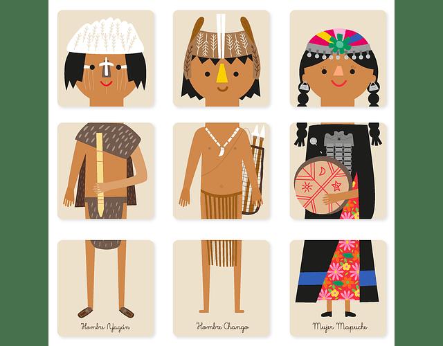 Puzzle pueblos originarios de Chile - Imanix y Pipa Flor