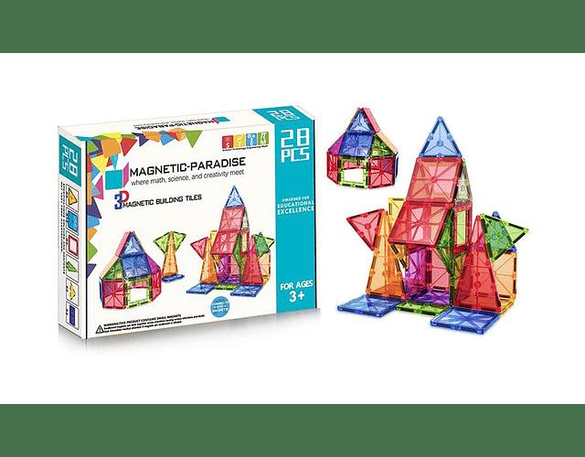 Bloques Magnéticos 28 piezas (Magnetic Paradise)