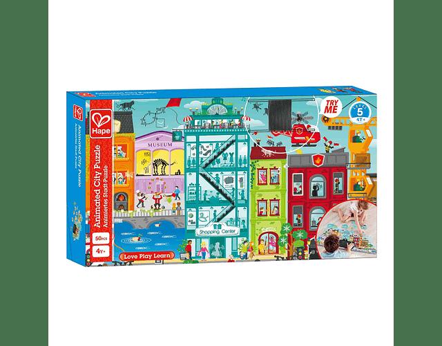 Puzzle animado de ciudad 50 piezas