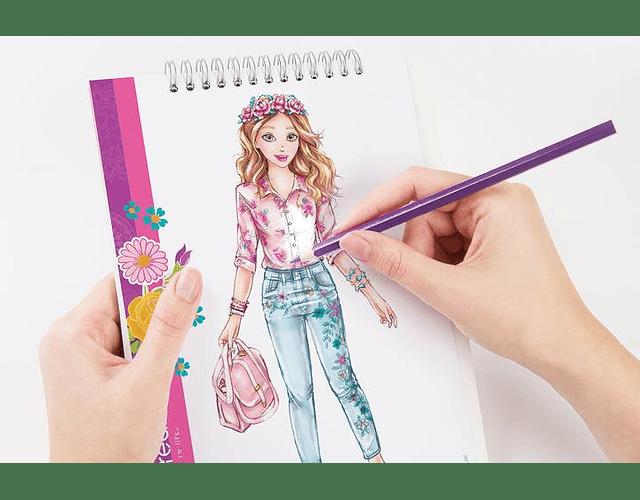 Libreta diseño de moda: Creatividad Floral