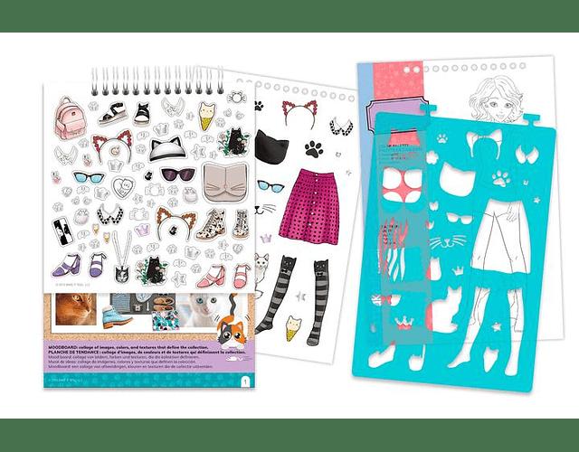Libreta diseño de moda: Lindo Gatito
