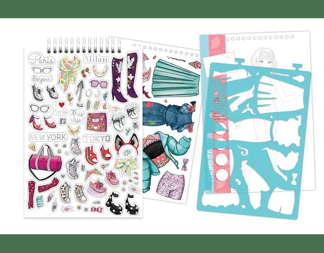 Libreta diseño de moda: Estilo de ciudad
