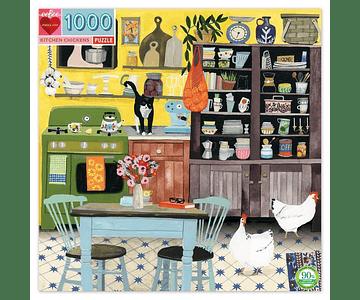 Puzzle Gallinas en la cocina 1000 piezas