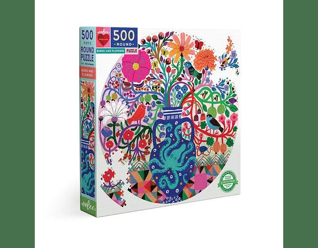Puzzle Pájaros y Flores 500 piezas