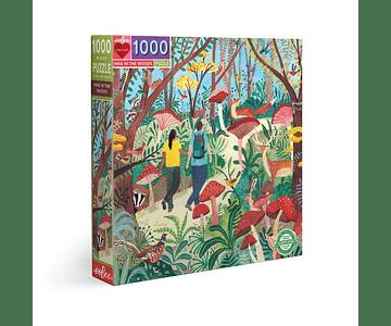 Puzzle Trekking en el bosque 1000 piezas