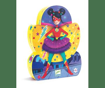 Puzzle Silueta Super Star 36 piezas