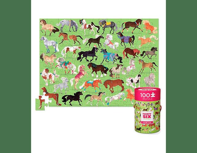 Puzzle Caballos 100 piezas