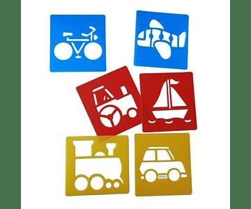 Stencil Lavable - Transportes