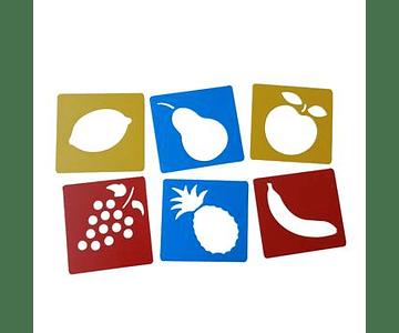 Stencil Lavable - Frutas