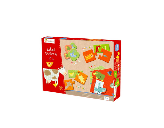 Caja de juegos educativos La granja