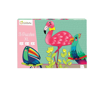 Puzzle progresivo Pájaros tropicales