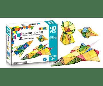 Bloques Magnéticos 48 piezas (Magnetic Paradise)