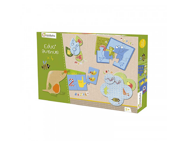 Caja de juegos educativos El jardín