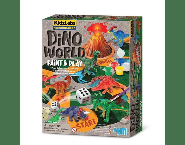 Pinta y juega dinosaurios