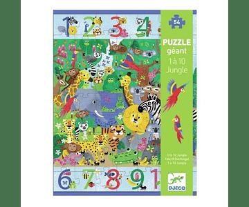 Puzzle Gigante 1 a 10 Jungla 54 piezas