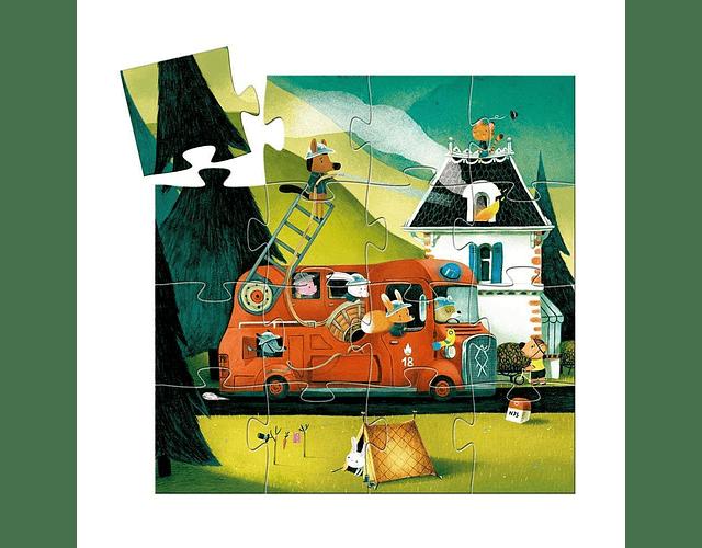 Puzzle Bombero 16 piezas