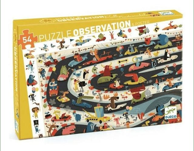 Puzzle de observación Car Rally 54 piezas