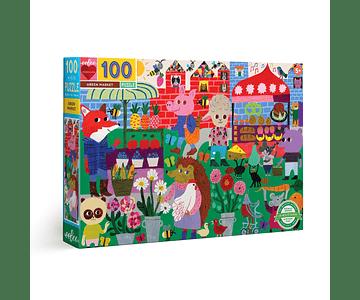 Puzzle Mercado verde 100 piezas