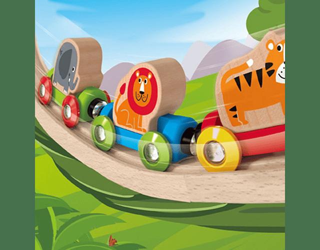 Tren viaje por la selva