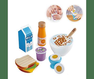 Set de desayuno delicioso