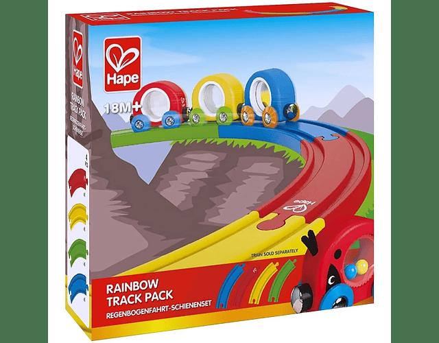 Pack vías tren Arcoiris