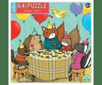 Puzzle Fiesta de Animales 64 piezas
